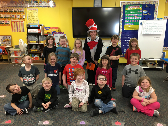 We loved having the Cat in the Hat come read to us today!