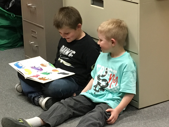 Reading buddies!