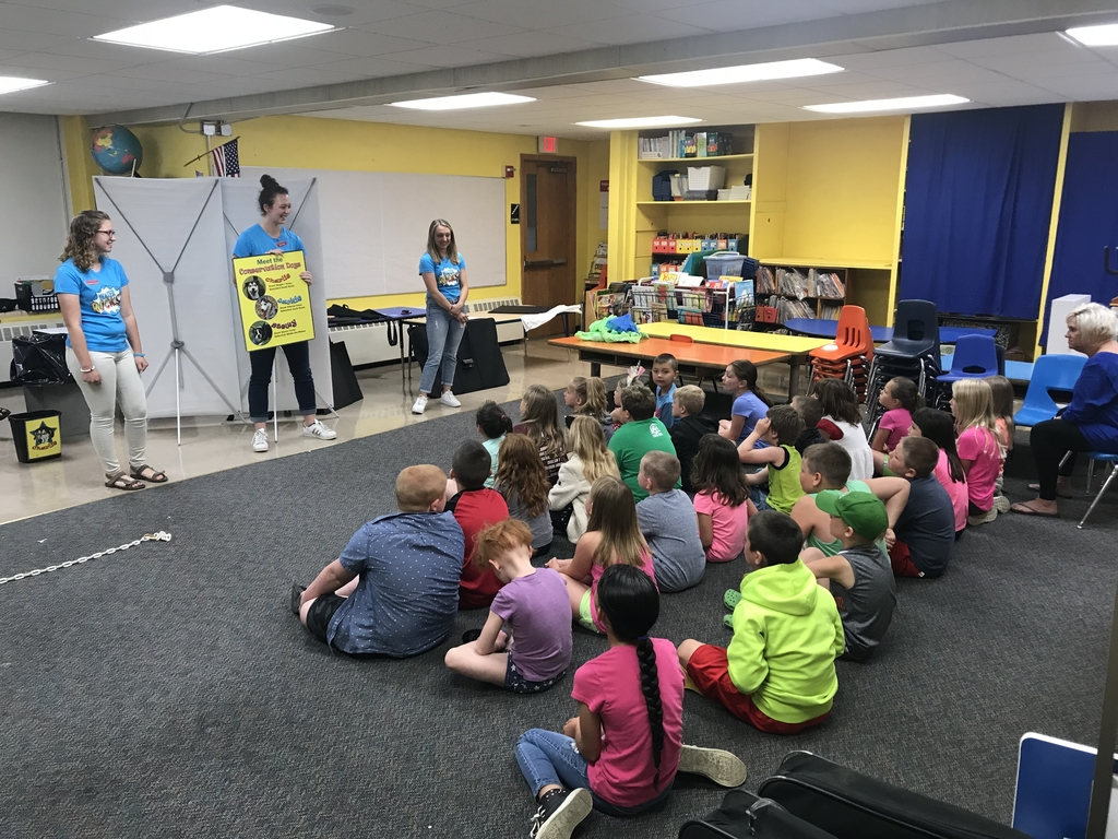 ISU water quality and conservation staff present Water Rocks! to our K-2 grades.