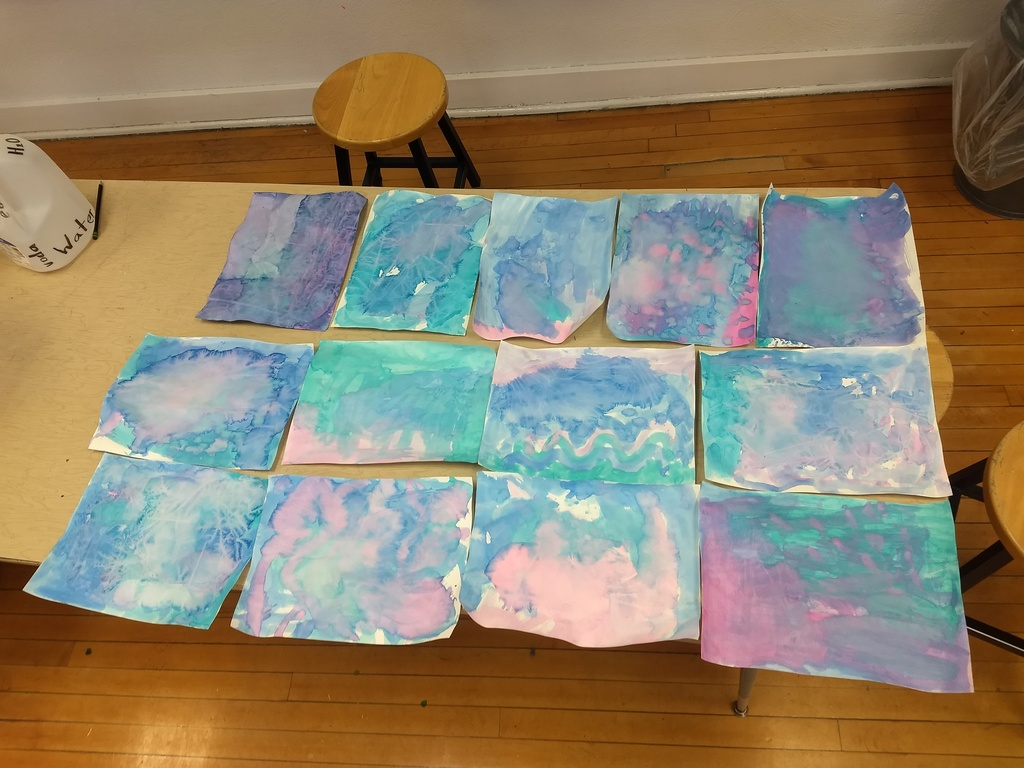 Kindergarten watercolor oceans